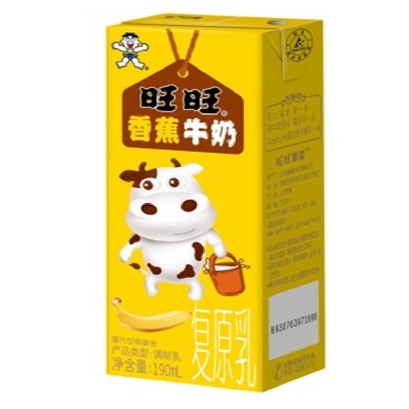 旺旺香蕉牛奶190ml图片