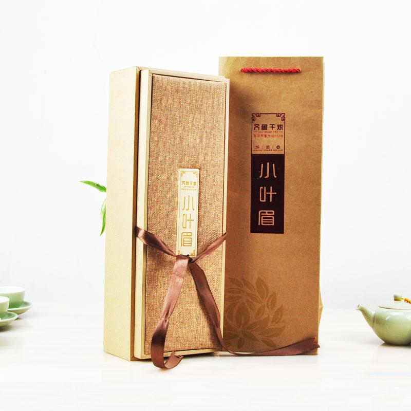 山东莱芜特产 齐鲁干烘茶 小叶眉礼盒 黄茶嫩叶 210g内30袋