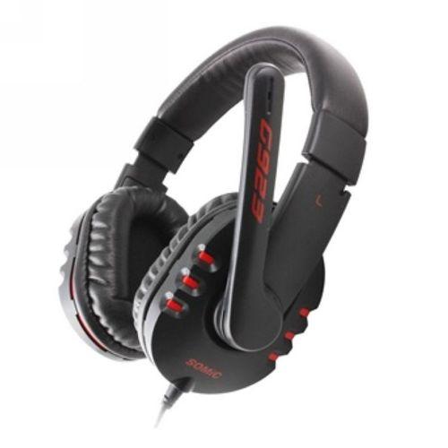 硕美科(Somic) G923 耳麦 头戴式 双插头 线控 黑色