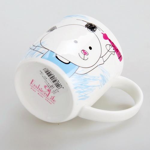 时尚生活卡通简笔画系列时尚单杯 小熊 A09 4