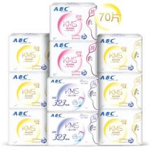 ABC纤薄透气棉柔卫生巾组合装10包(日48片+夜22片)