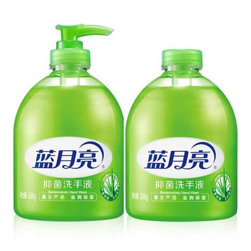蓝月亮 清洁抑菌 滋润保湿洗手液(芦荟)500g瓶+500g瓶装补充装