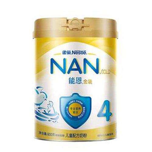 雀巢(nestle)能恩 蜂蜜口味儿童配方奶粉 4段(3岁以上儿童适用)900克(新老包装随机发货)