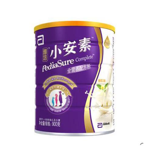 雅培(Abbott)小安素全營養配方粉香草味(1-10歲)900克(新加坡原裝進口)