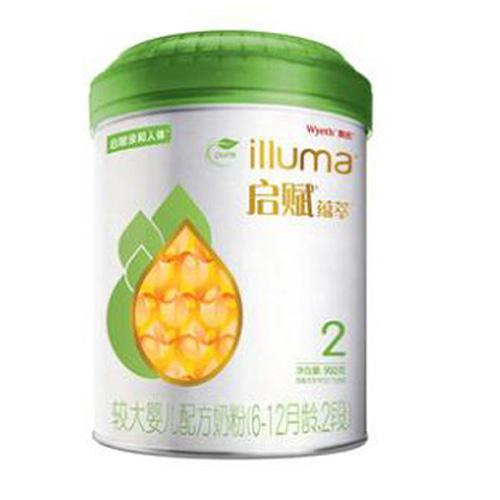 惠氏啟賦(Wyeth illuma)有機奶粉2段 愛爾蘭進口 6-12月較大嬰兒配方 900克(罐裝)