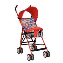 宝宝好605旅游便携版婴儿手推车轻便时尚折叠简易四轮儿童伞车轻便款红色
