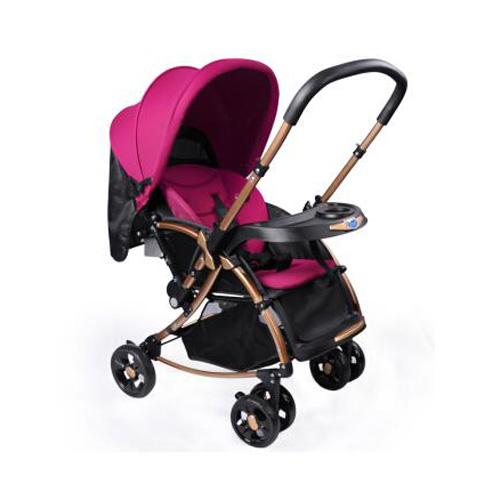 宝宝好婴儿推车c3摇马双向宝宝推车儿童推车手推车夏季婴儿车推车暗紫