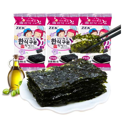 韓國進口 ZEK 兒童海苔紫菜 經典原味5g*3包