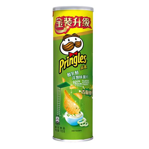 品客(Pringles)薯片酸乳酪洋蔥味110g(新老包裝隨機發貨)