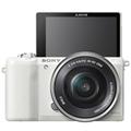 索尼(SONY)ILCE-5100L 标准单镜套装 白色 (E PZ 16-50mm F3.5-5.6 OSS 2430万像素)