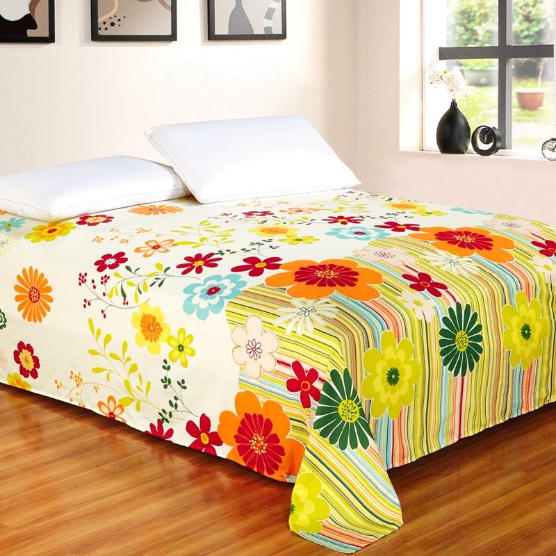 艾薇 床品家纺 双人床单单件纯棉被单1.5床/1.8床230*250(万象更新)