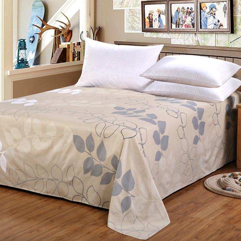 艾薇 床品家纺 全棉斜纹印花整幅 加大双人床单 帕米拉230*250CM