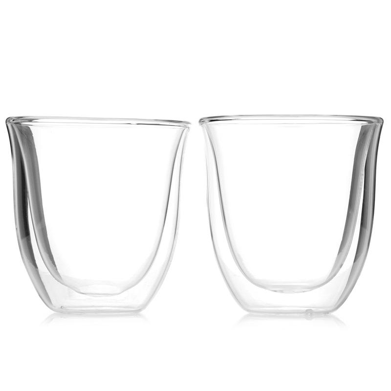 德龍咖啡機 雙層咖啡玻璃水杯 中號(190ml*2)
