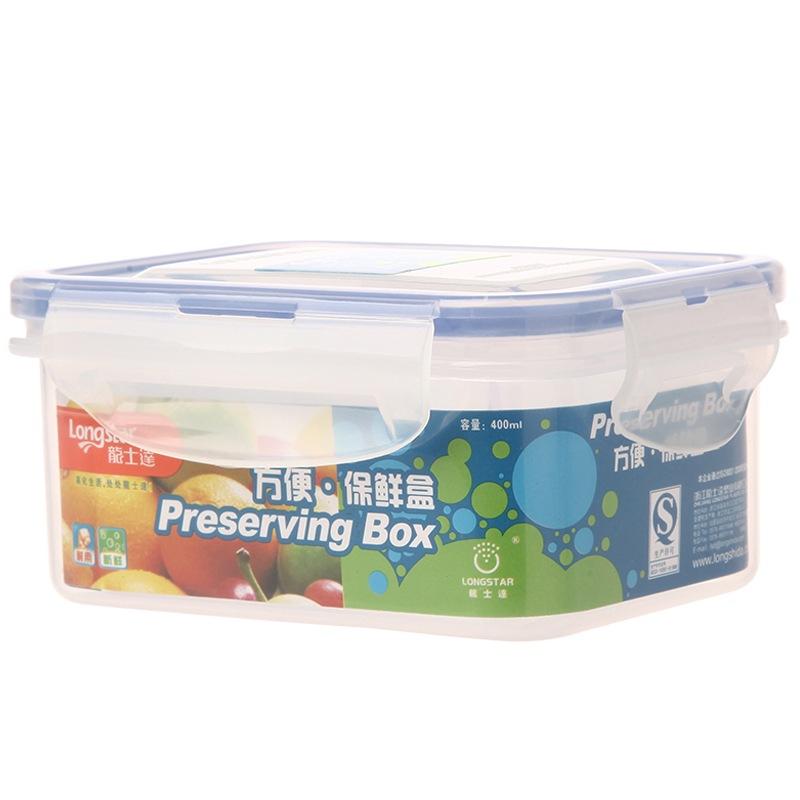 龙士达(LONGSTAR) 微波炉饭盒保鲜盒 400ml透明塑料密封罐便当盒 储物盒LK-2012
