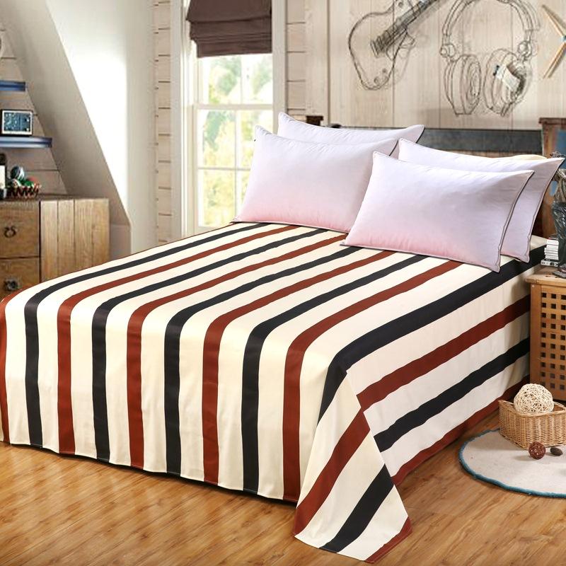 艾薇家纺床单单件40支纯棉斜纹加大单人被单裸婚时代152*210cm