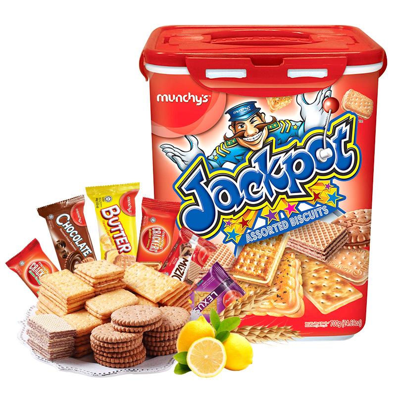 马来西亚进口 Munchy's马奇新新 积宝什锦饼干大礼盒 700g