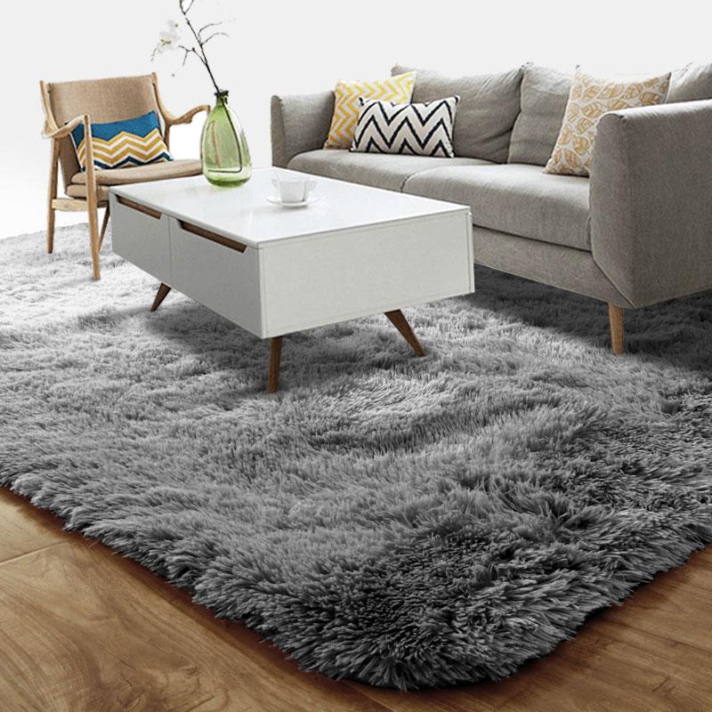 富居(FOOJO)长绒地毯客厅卧室地毯1.6*2.3米 灰色