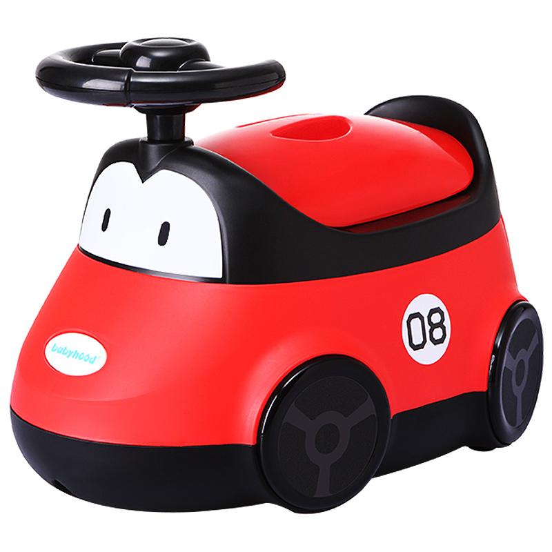 世纪宝贝babyhood 小汽车坐便器 男女宝宝儿童马桶 婴儿座便器加大 红色 ENEN-116