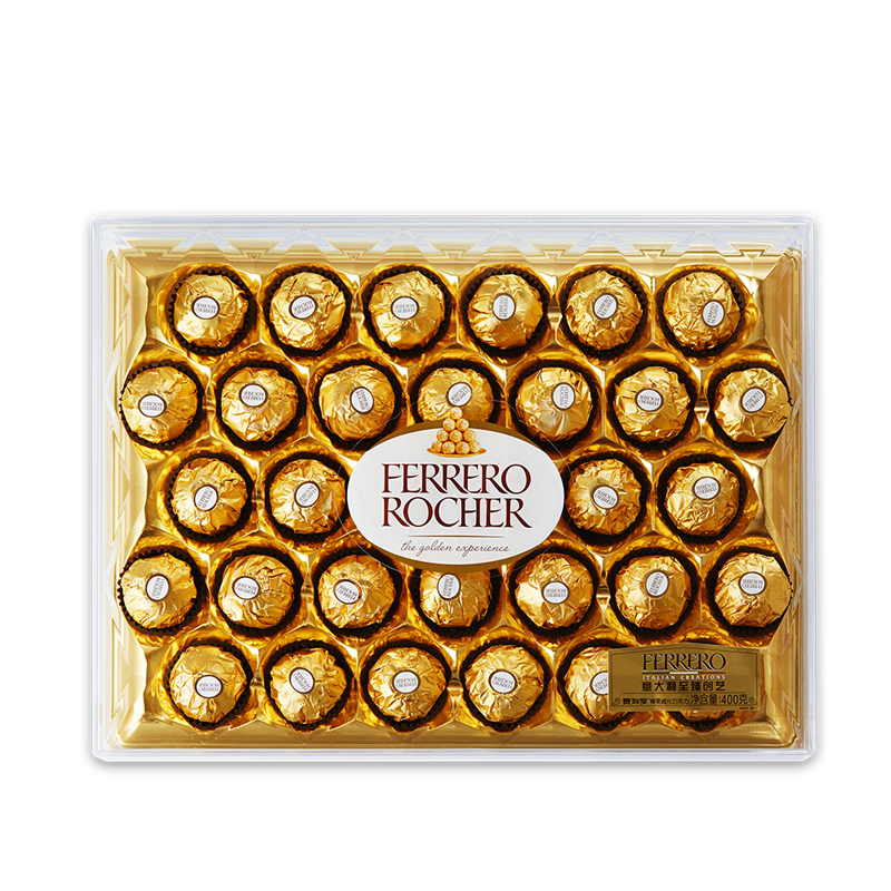 Ferrero Rocher費列羅榛果威化糖果巧克力禮盒32粒鉆石裝400g