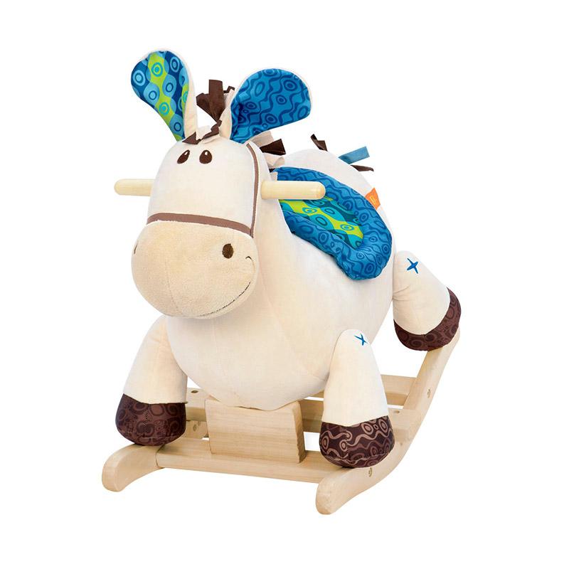 B.Toys 比乐 摇摇马 木摇马 木质毛绒摇椅玩具 儿童早教 婴幼儿童益智玩具 18个月+ BX1512Z
