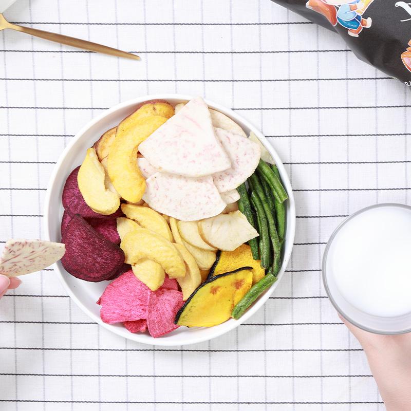 三只松鼠休闲零食特产混合什锦果蔬菜干蔬果干田园果蔬脆100g/袋