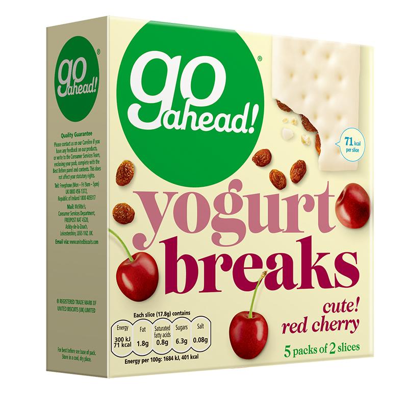 英国进口 果悠萃(go ahead)樱桃车厘子夹心 酸奶涂层饼干178g 早餐下午茶零食