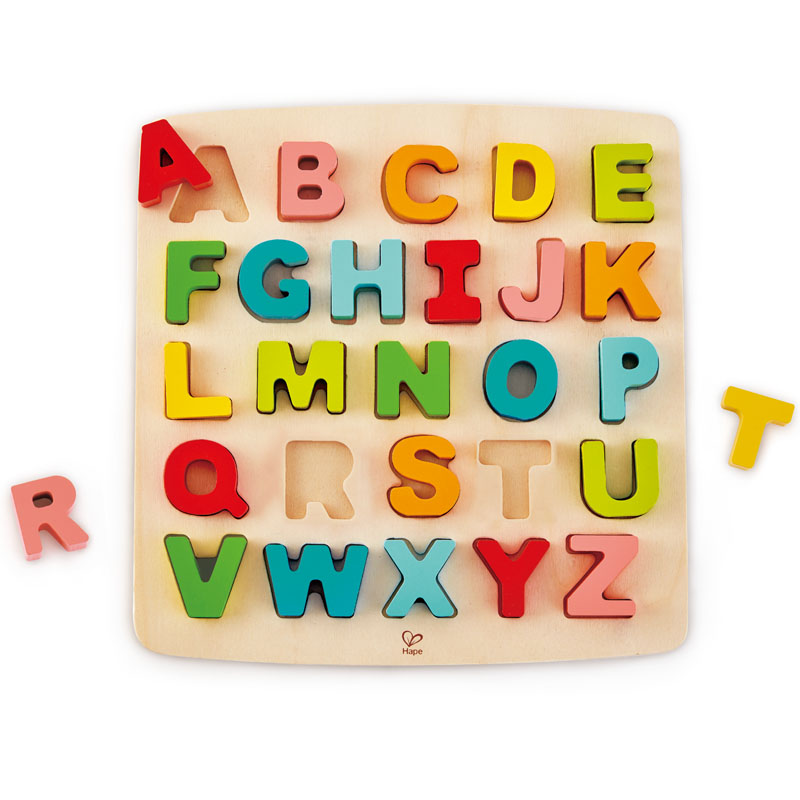 Hape 积木拼图 早教益智 大写字母立体拼图 3岁以上 E1551 儿童玩具