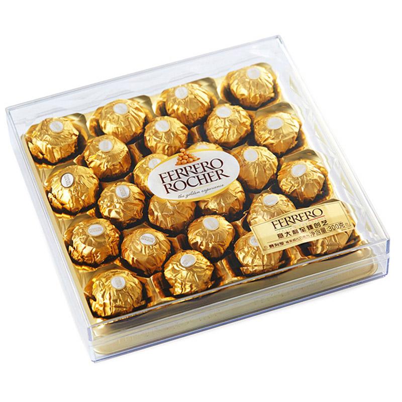Ferrero Rocher費列羅榛果威化糖果巧克力禮盒24粒鉆石裝300g