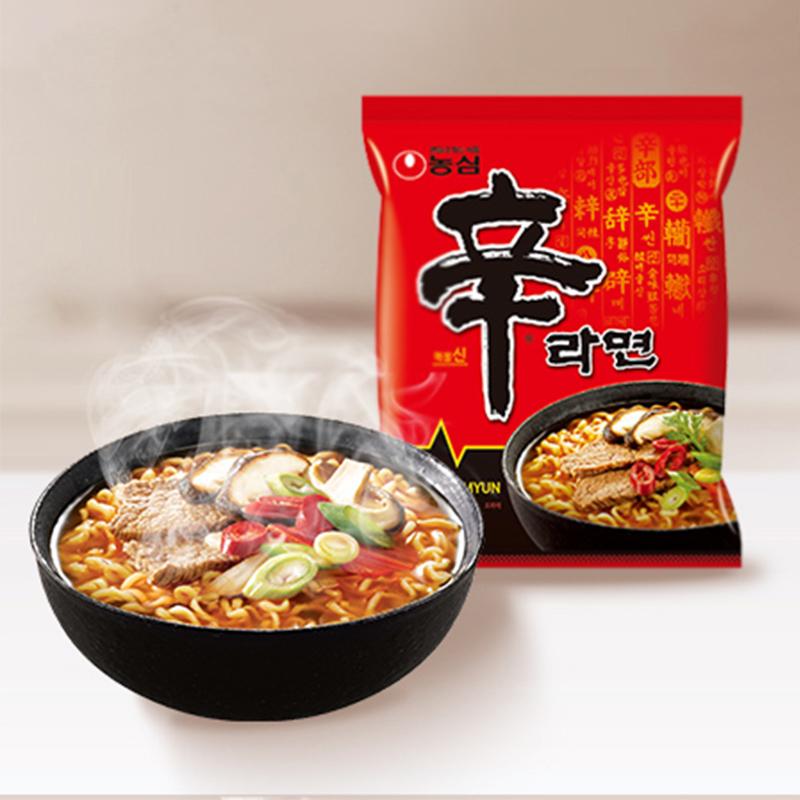 韓國進口 農心 方便面 辛拉面120g*5 五連包速食泡面