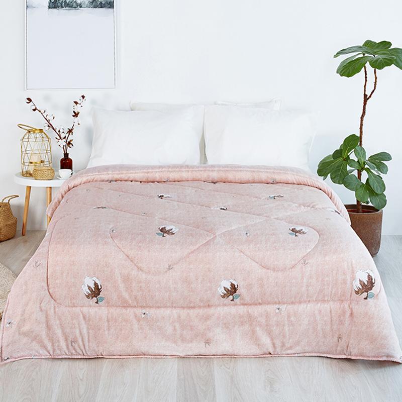 佳佰 被子 棉被棉花被  新疆长绒棉摩卡暖羊绒春秋被四季被芯单人(150×200cm/4斤)
