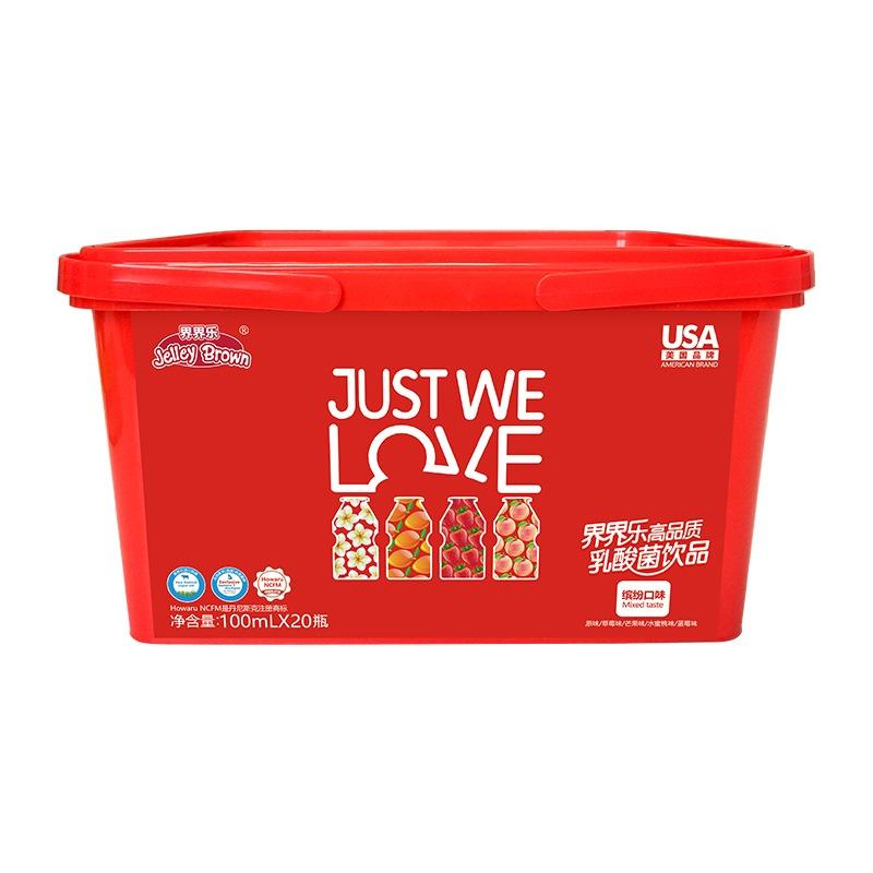 界界樂(Jelley Brown)乳酸菌飲料 混合口味 100ml*20瓶繽紛禮盒裝