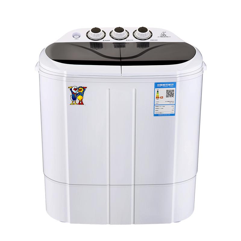 小鴨 2.5公斤雙缸半自動迷你洗衣機 嬰兒寶寶小洗衣機 藍光款 XPB25-1680S