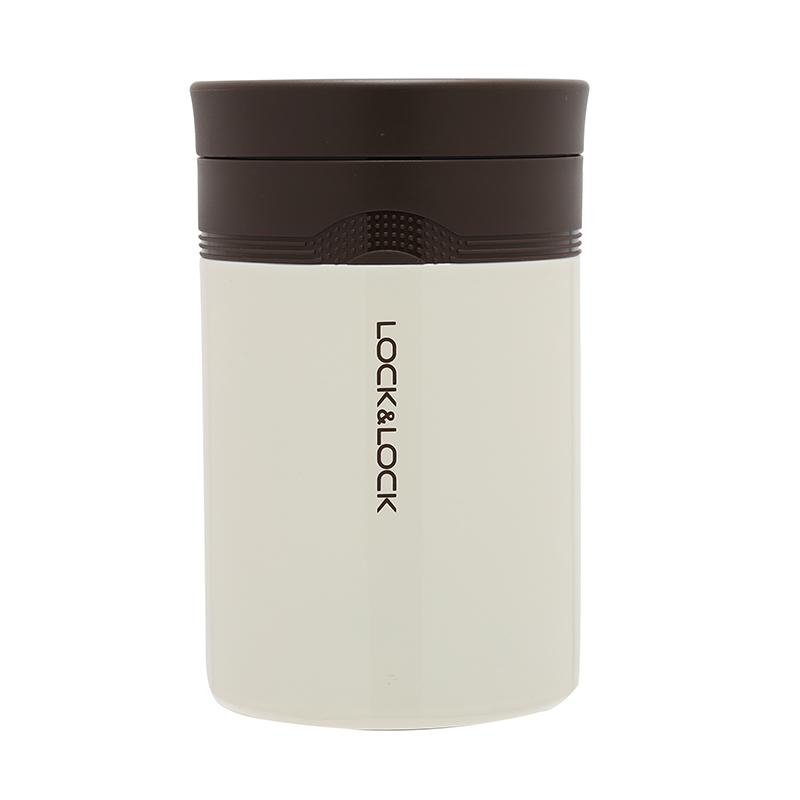 乐扣乐扣(LOCK&LOCK) 焖烧壶闷烧罐 不锈钢保温壶保温盒饭桶闷烧杯白色 LHC8024WHT 500ML