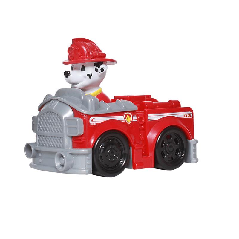 汪汪队立大功(PAW PATROL)狗狗巡逻队全套模型车 儿童男女孩玩具车套装 救援赛车系列-消防救护车+毛毛