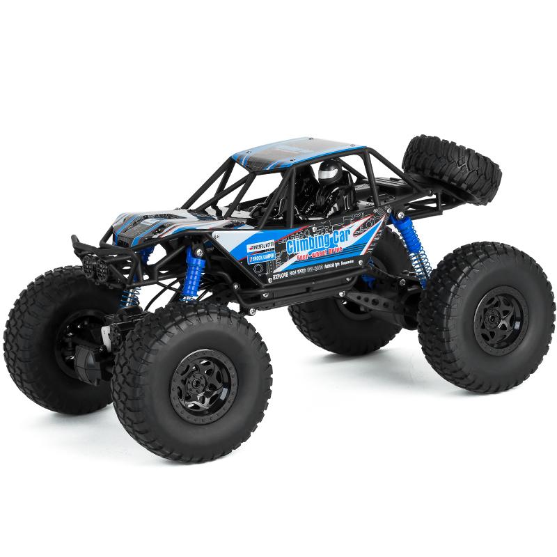 美致模型(MZ) 遥控车 大脚攀爬车48cm 车身超大号礼盒高速四驱越野赛车 汽车模型儿童男孩玩具 宝石蓝