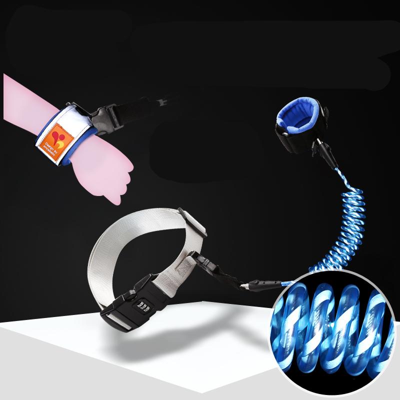 然雅(ONYA)儿童防走失带牵引绳防丢绳儿童宝宝反光防走失手环腰带两用款F030BA-1.5米
