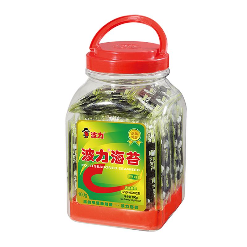 波力海苔 休闲零食 罐装100g