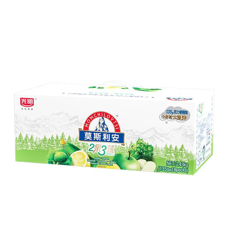 光明 莫斯利安 2果3蔬(綠果)常溫酸奶135g*18盒鉆石裝中華老字號