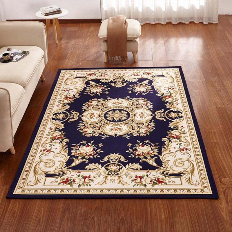 九洲鹿 地毯家紡 歐式典雅提花客廳臥室地毯玄關入戶門墊 芳華 80*120cm