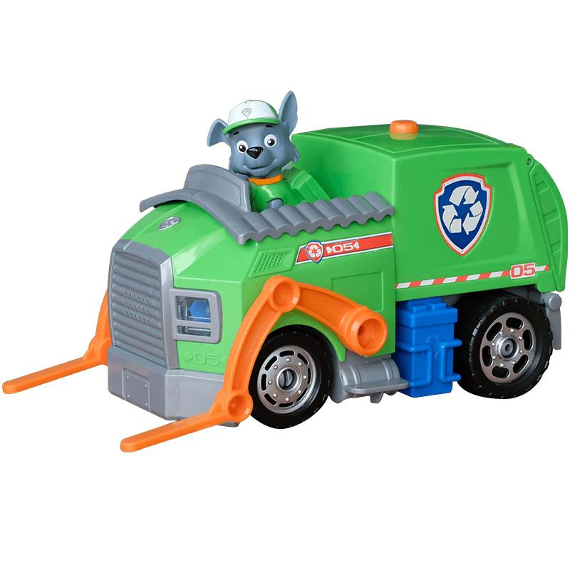 汪汪队立大功(PAW PATROL)狗狗巡逻队全套模型车 儿童男女孩玩具车套装 救援车系列声光版-环保回收车
