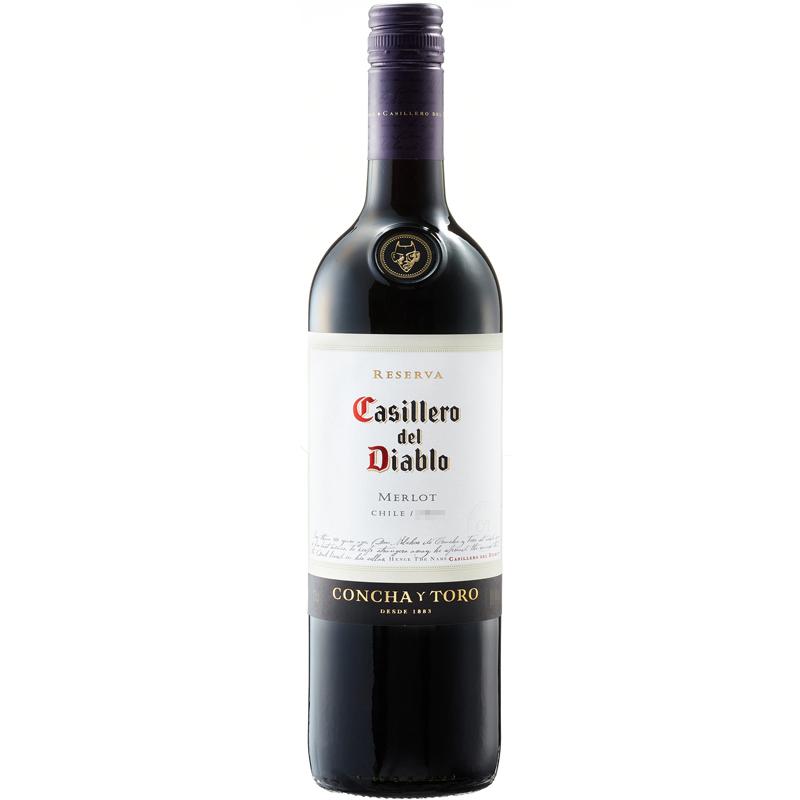 智利进口红酒 干露酒厂 红魔鬼 梅洛 红葡萄酒 750ml