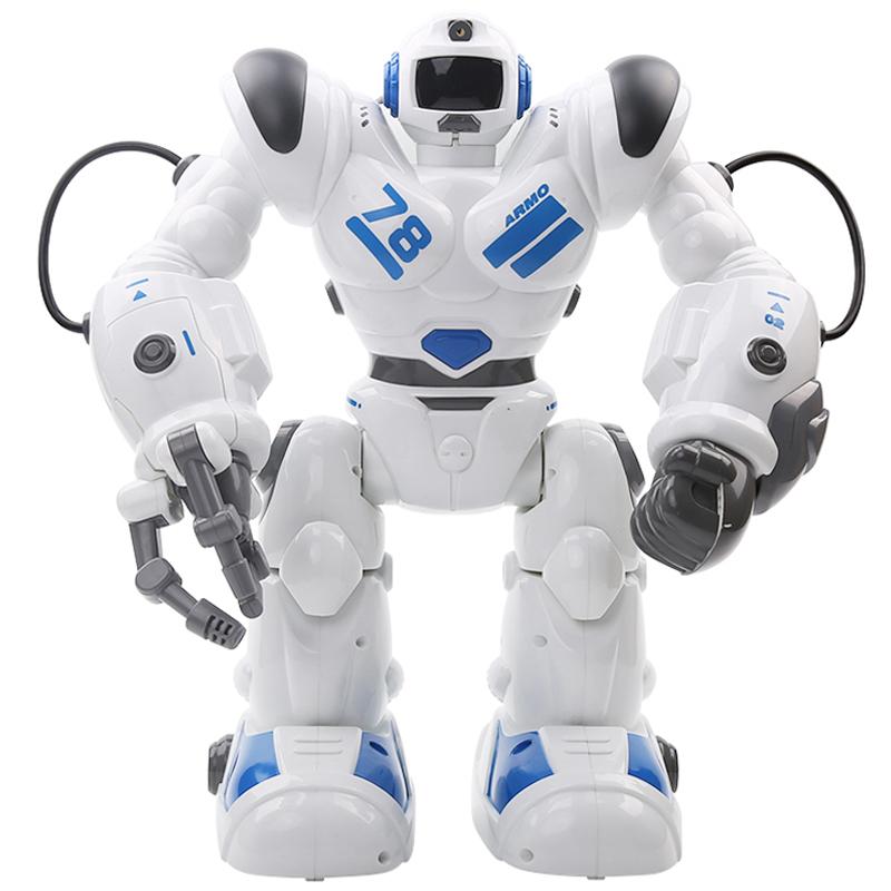 佳奇(JIAQI)TT353机器人罗本哈特(蓝色)  智能无线遥控充电版 射击滑行科普教学 儿童益智玩具