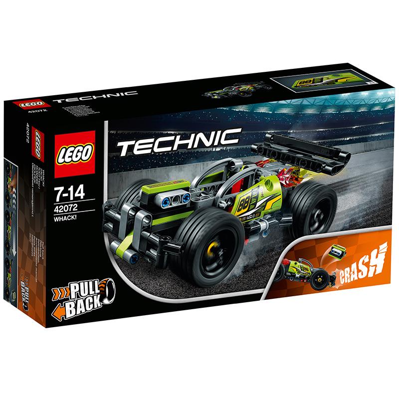 乐高 玩具 机?#24213;?Technic 7岁-14岁 高速赛车-旋风冲击 42072 积木LEGO