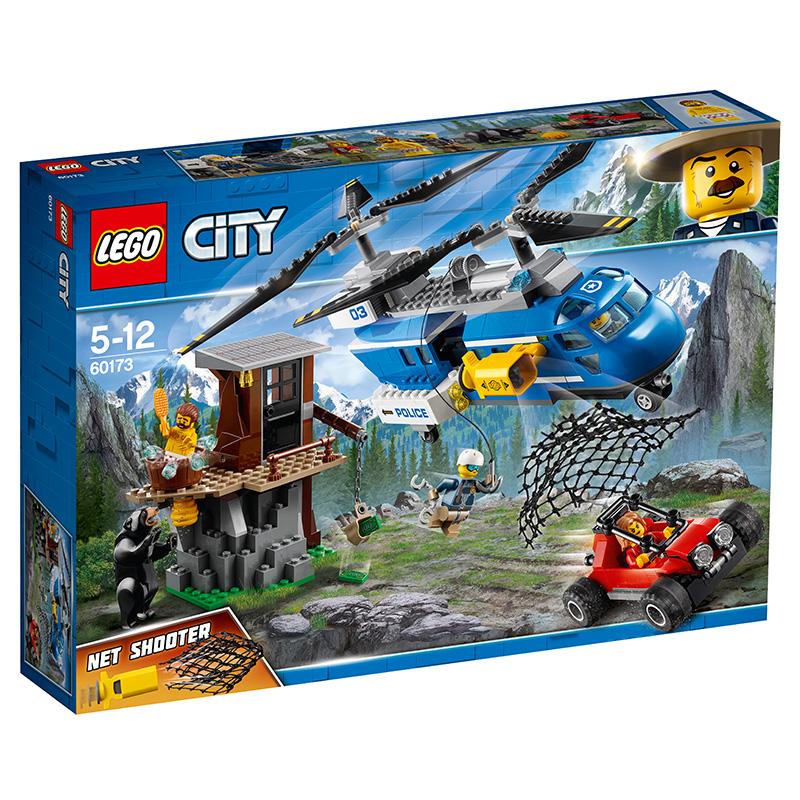 乐高 玩具 城市组 City 5岁-12岁 山地特警空中追捕 60173 积木LEGO