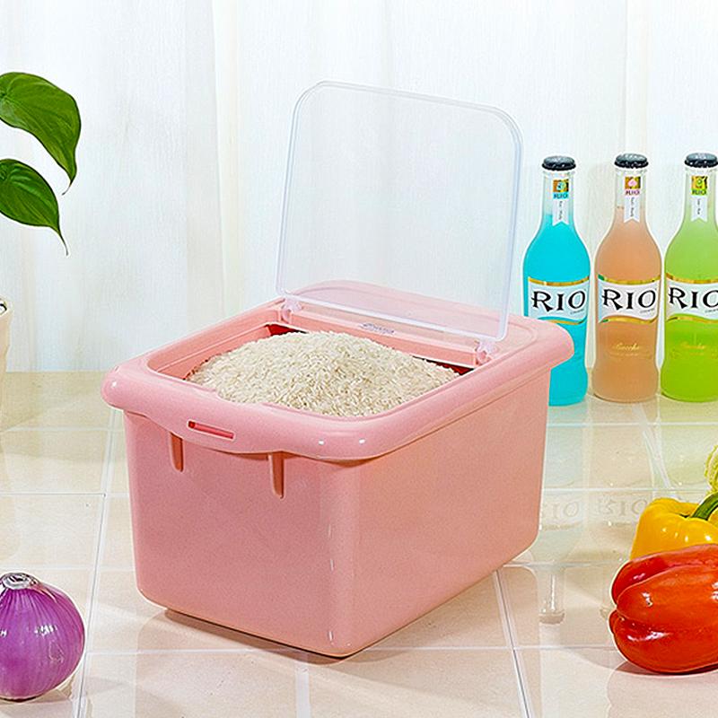 茶花 米桶储米箱面粉桶15斤防潮防虫 2303颜色随机