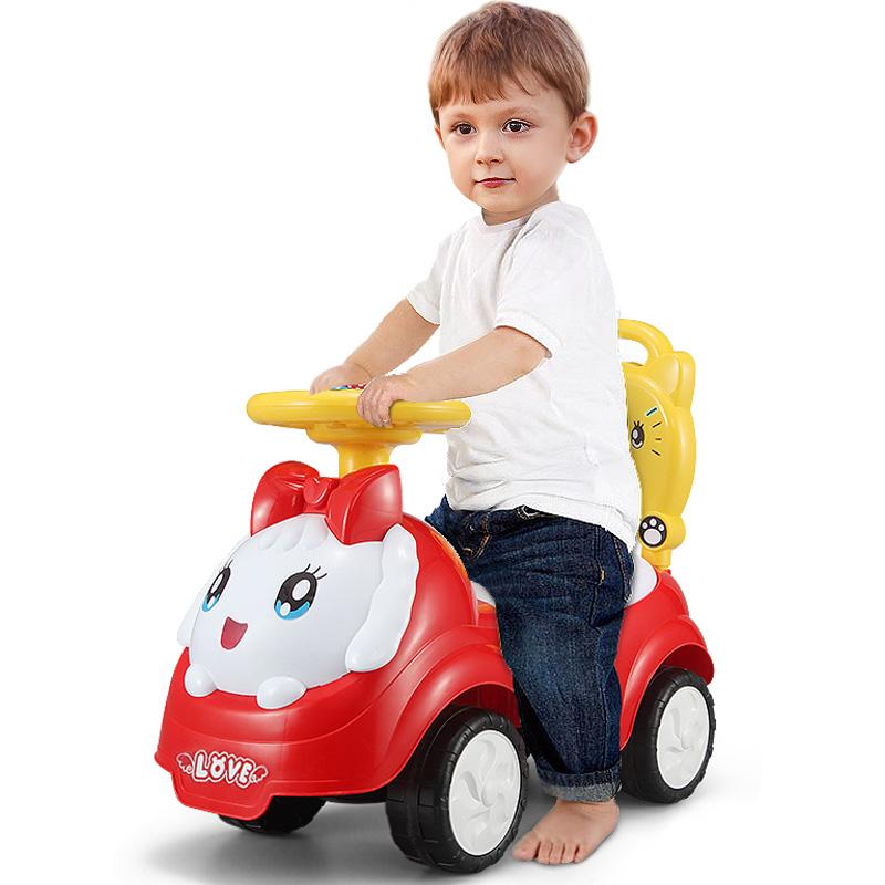 纽奇(Nukied)儿童玩具 扭扭车儿童车1-2岁溜溜车宝宝妞妞车带音乐摇摆车四轮滑行车 红色