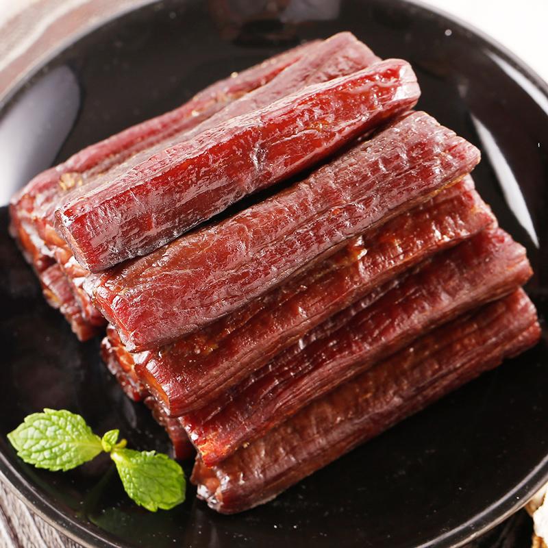 科尔沁 休闲肉脯零食 内蒙古特产 手撕风干牛肉干五香味400g