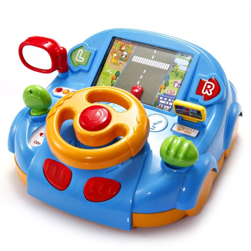 澳貝(AUBY) 益智玩具 動感駕駛室 嬰幼兒童早教啟智音樂多功能模擬游戲 463428DS