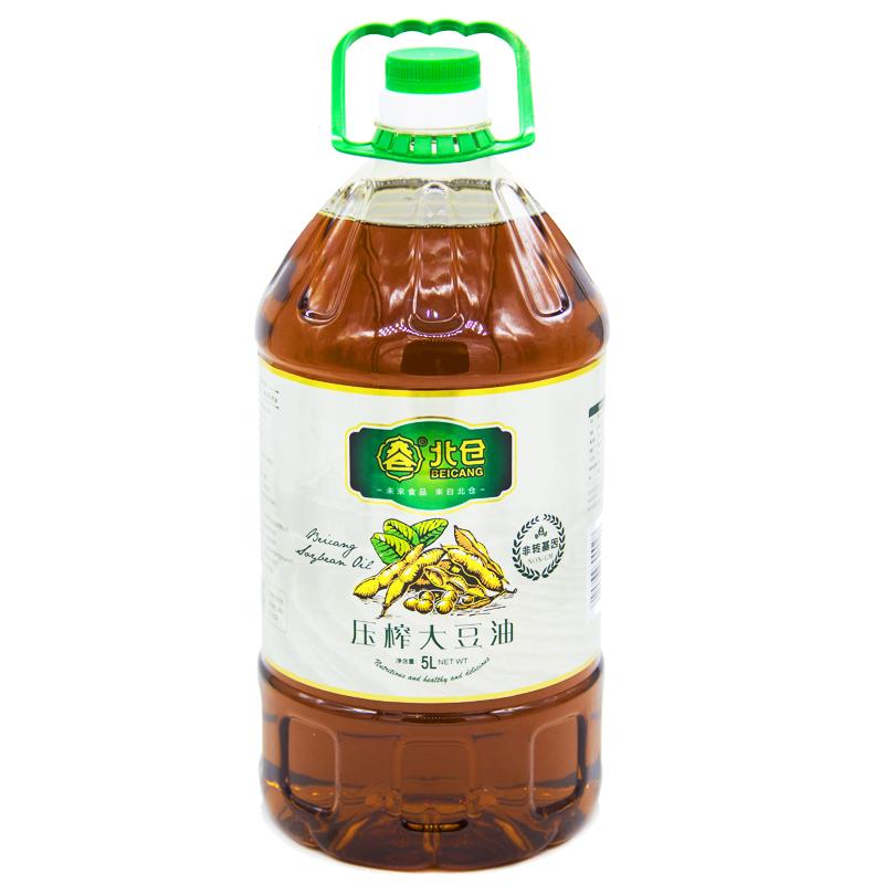 北倉 食用油 非轉基因 物理壓榨 東北大豆 濃香笨榨熟豆油5L