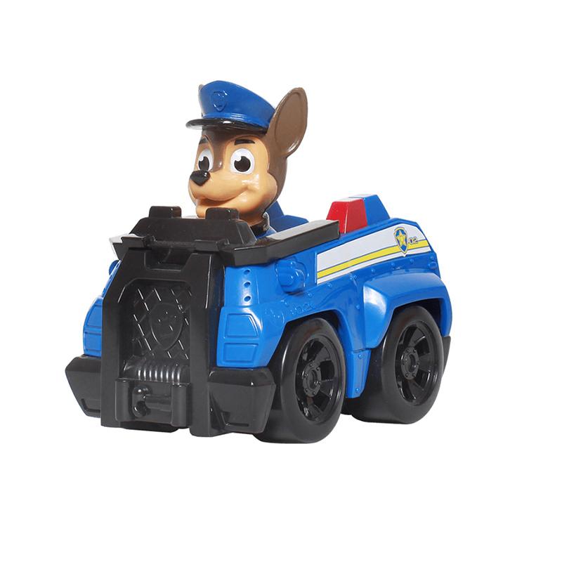 汪汪队立大功(PAW PATROL)狗狗巡逻队全套模型车 儿童男女孩玩具车套装 救援赛车系列-警车+阿奇